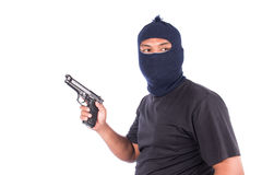 Young Burglar Wearing Mask Royalty Free Stock Images