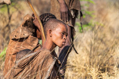 Young Bushmen woman Stock Photo