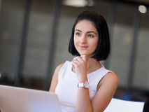 Young busines woman with notebook Stock Photos
