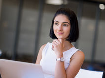 Young busines woman with notebook Royalty Free Stock Photo