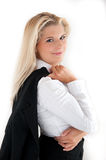 Young busines woman in a suit Stock Photos