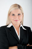 Young busines woman in a suit Stock Image