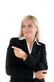 Young busines woman in a suit Royalty Free Stock Images
