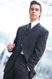 Young business. Portrait of a young businessman Royalty Free Stock Photo