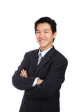 Young business asian man isolated Royalty Free Stock Images
