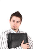 Young business assistant with briefcase Stock Image