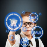 Young business boy Stock Photography