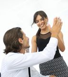 Young business colleagues giving each other a high five Stock Photography