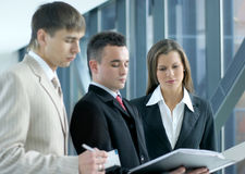 Young business colleagues working together Stock Images