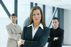 Young Business Colleagues Working Together Royalty Free Stock Images