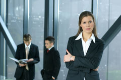 Young Business Colleagues Working Together Stock Photography