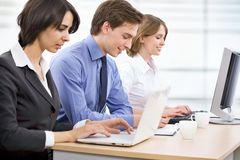 Young business collegues. Working in the office Royalty Free Stock Photo