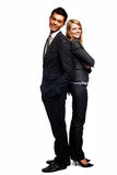 Young business couple. Isolated on white Stock Photo