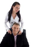 Young business couple Stock Photos