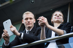 Young business couple having a break. From work Royalty Free Stock Images