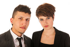 Young business couple Stock Photography