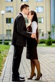 Young business couple outdoor Royalty Free Stock Images