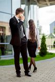 Young Business couple outdoors. Stock Images