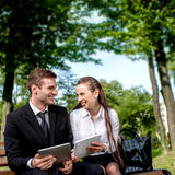 Young Business couple outdoors. Stock Image