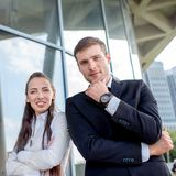 Young Business couple outdoors. Stock Photography