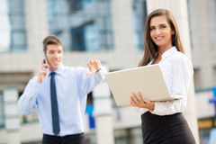 Young Business Couple Stock Images