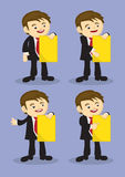 Young Business Executive Doing Corporate Presentation Vector Car Stock Image
