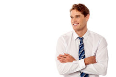 Young business executive looking away Stock Image