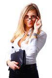 Young business girl Stock Image