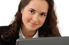 Young business girl Royalty Free Stock Photo