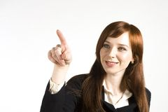 Young business girl. Getting ready for office meeting Royalty Free Stock Photos
