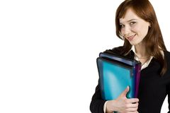 Young business girl Stock Images