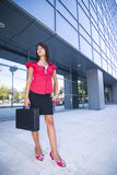 Young Business Girl Outside royalty free stock images