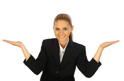 Young business girl posing Royalty Free Stock Images