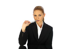 Young business girl sensual Stock Photography