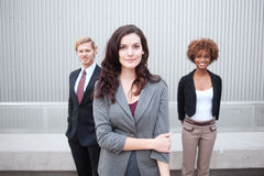 Young business group standing together at office Royalty Free Stock Photography