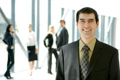 A young business group is working in an office Royalty Free Stock Photography