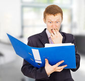 Young business guy surprised Royalty Free Stock Photography