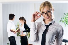 Young business ladies Stock Photos