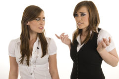 Young business ladies interacting Royalty Free Stock Photo