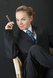 Young business lady Stock Photography