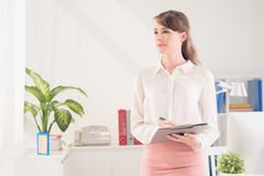 Young business lady Royalty Free Stock Photos