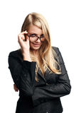 Young business lady in glasses Royalty Free Stock Photography