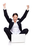 Young business lady successfully Stock Photography