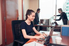 Young business lady Royalty Free Stock Image