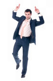 Young business man. On white background Royalty Free Stock Photography