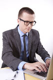 Young business man. Working in the office Royalty Free Stock Photo