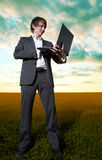 Young  business man Stock Photography