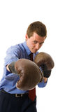 The young business man attack. Royalty Free Stock Photo
