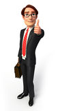 Young Business man with best luck sign Stock Photo