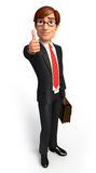 Young Business man with best sign Royalty Free Stock Image